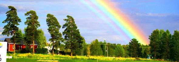 arcoiris lluvia gotas descomposicionde la luz