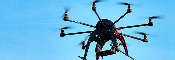usos de los drones