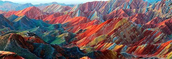 Montañas de colores en China